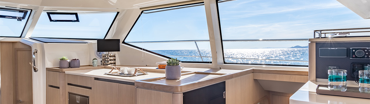 View looking out from salon in the Aquila 44