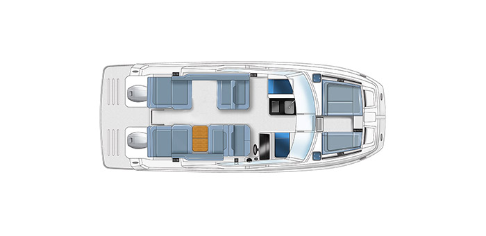 deck layout of the aquila 32