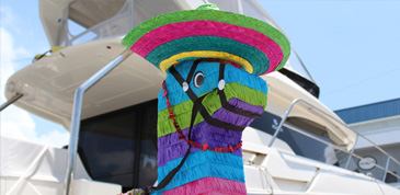 Pinata for Cinco De Mayo celebration aboard an Aquila
