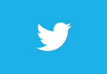 twitter logo with turquoise blue square with white twitter bird in the middle